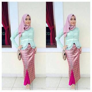 cara pakai hijab kebaya kutu baru
