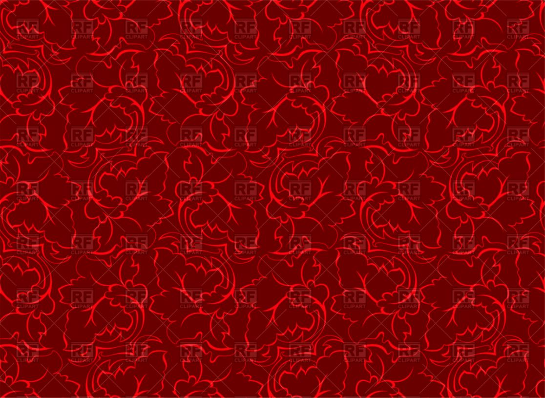 Red Floral Wallpaper Eazy Wallpapers