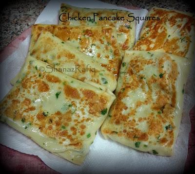 Chicken Pancake Squares