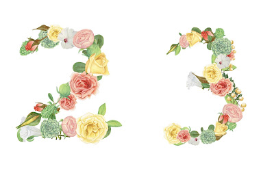 A floral number 23