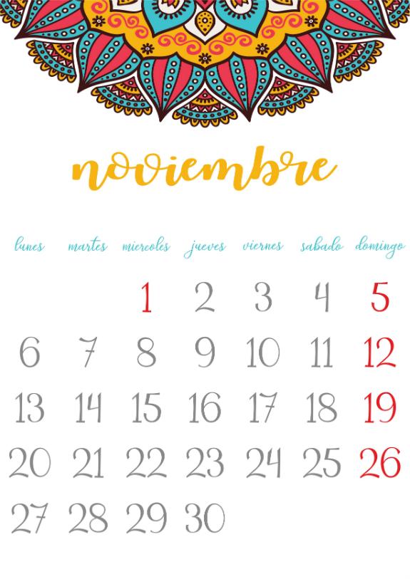 Imprimible calendario noviembre 2017 ni a bonita - Mes noviembre 2017 ...