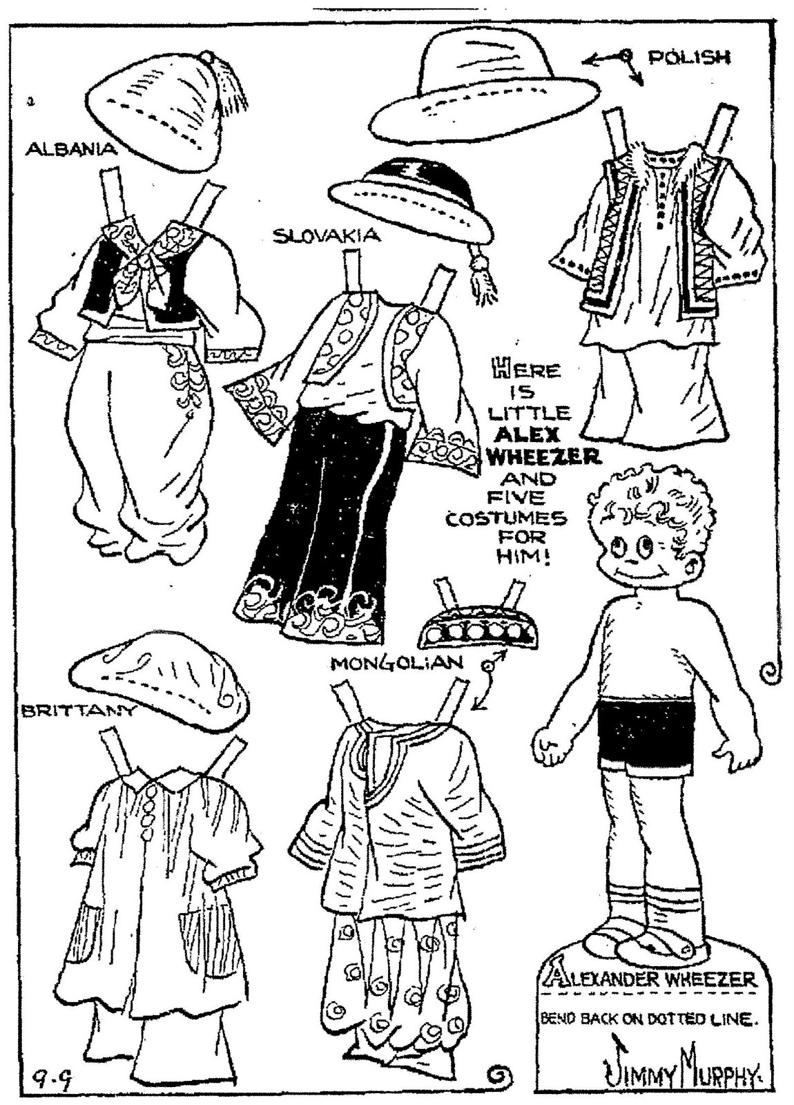 mostly paper dolls alex wheezer and betty birch 1934 Mongolian Art alex wheezer and betty birch 1934