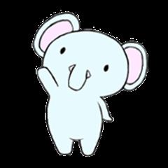 Child elephant Mofumi