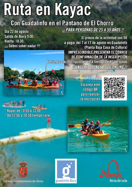 Ruta en Kayac por el Chorro desde Álora