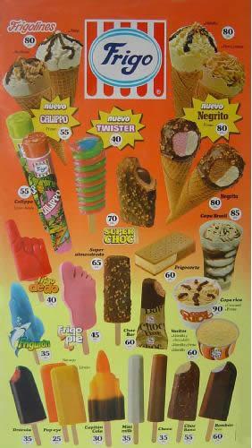 helados frigo años 80