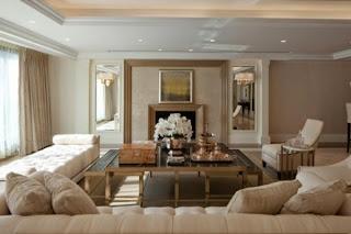 Diseño sala paredes beige