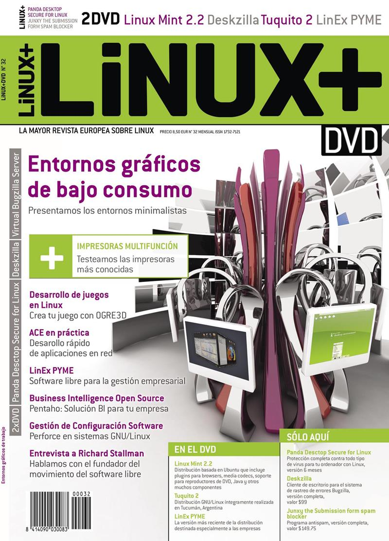 Linux+ Nro. 32 – Entornos gráficos de bajo consumo