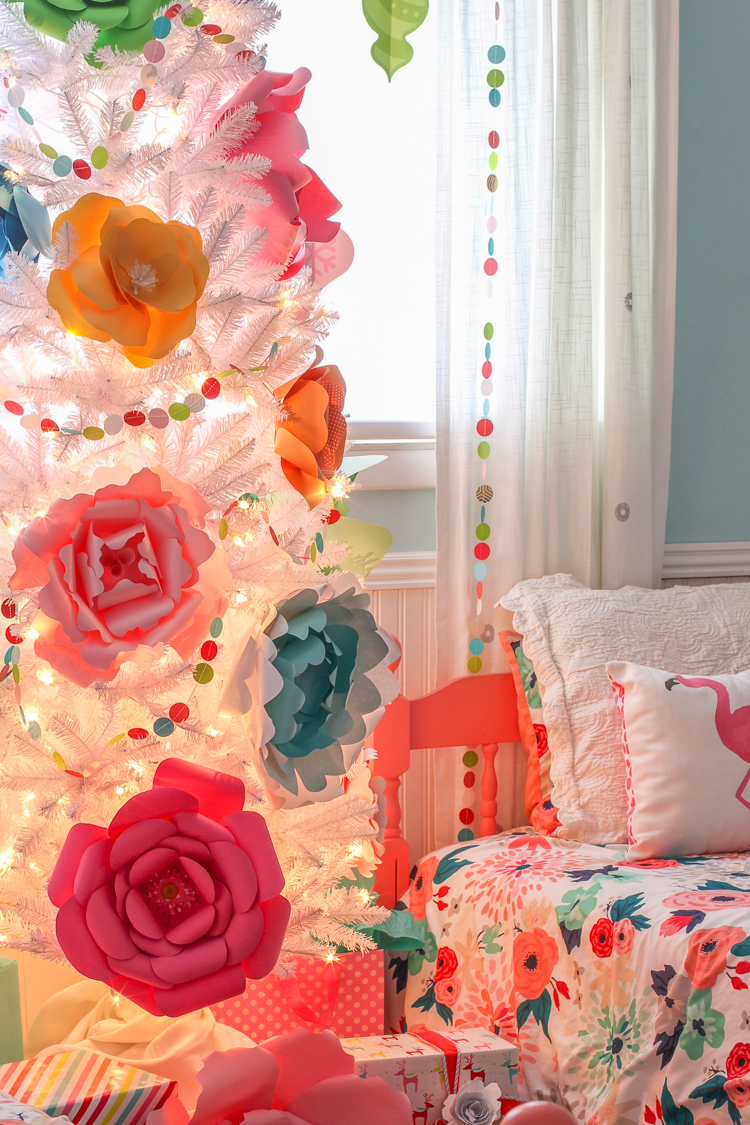 Paper Flower Christmas Tree