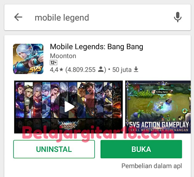 Aplikasi Mobile legends