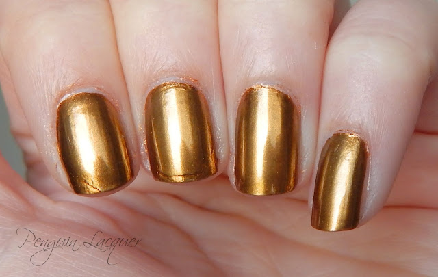 p2 motown glam chromatic nail powder gold nah