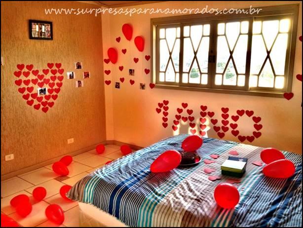 10 dicas de decoração para um ano de namoro Surpresas  ~ Surpresa No Quarto Do Meu Namorado