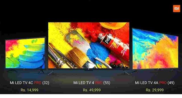 Xiaomi Announces 3 New Mi TVs for India