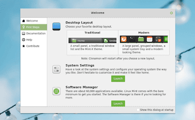 Tata Letak Desktop Baru Linux Mint 19.1