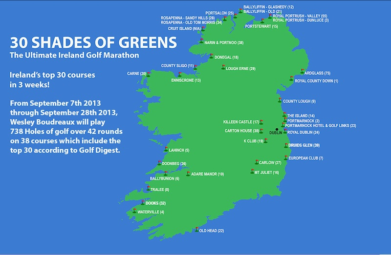 Hooked: Ireland's Golf Courses: 30 Shades of Green - an ... on ennis golf course, seven springs golf course, jefferson hills golf course, mill run golf course, royal dornoch golf course, bandon golf course, waterford golf course, fota island golf course, norvelt golf course, galway golf course, manor golf course, sligo golf course, murrysville golf course, rockwood golf course, letterkenny golf course, royal county down golf course, hannastown golf course, saucon valley golf course, dooks golf course, penn national golf course,