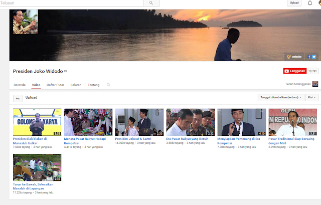 akun lengkap media sosial Presiden RI Jokowi