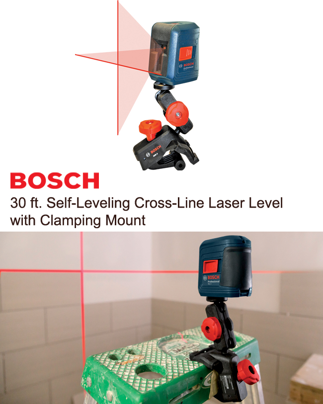 Self-leveling cross-line laser level
