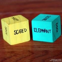 Charade Cubes, indoor recess idea