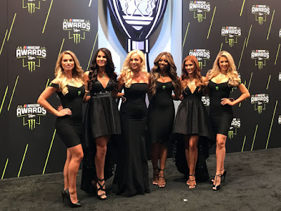 Monster Energy girls working the Monster Energy  #NASCAR Cup Series Red Carpet