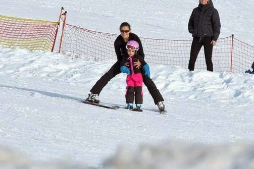 Princess Victoria and Princess Estelle in Verbier
