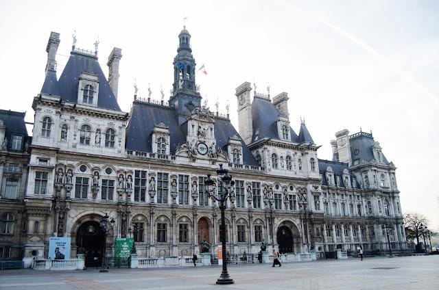 Hotel de Ville Paris France, Ratusz miejski, Paryż, Francja