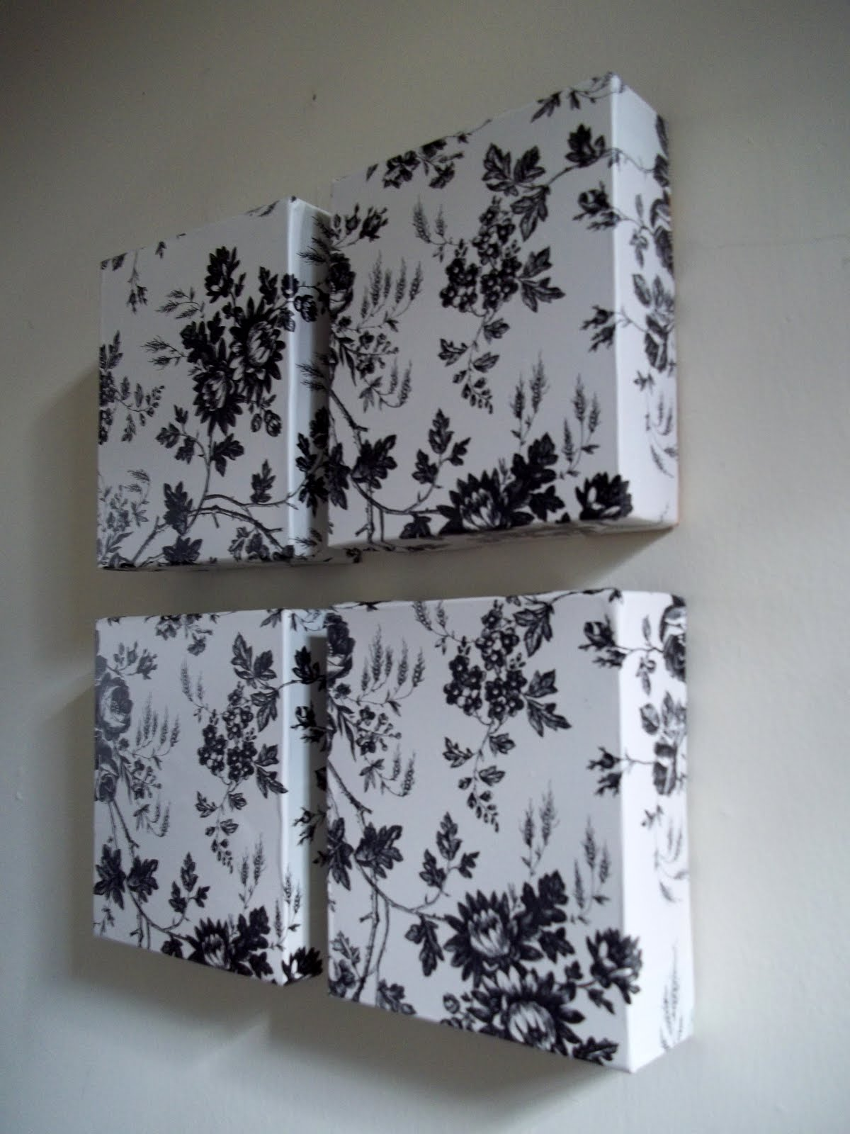 Ahhh Mom!: Dollar Tree Contact Paper and Used Boxes Wall Art
