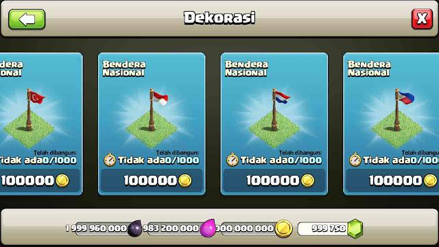 cheat clash of clans yang berhasil