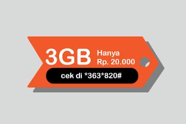Paket Internet Murah Telkomsel 3GB Hanya 20 Ribu Rupiah