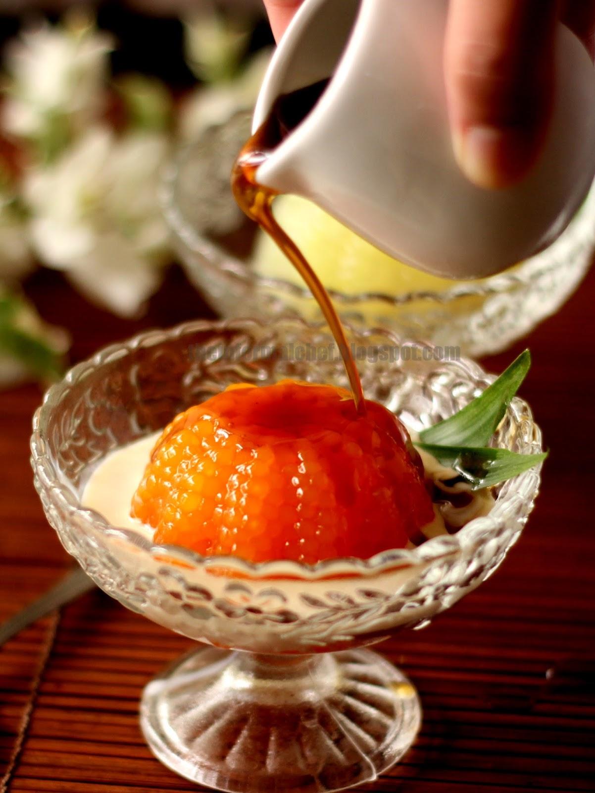 The Informal Chef: Palm Sugar Sago Pudding/Puding Sagu Gula Melaka 沙谷米椰糖布丁