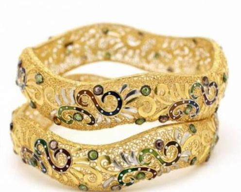 Young Ladies Basic Gold Bangles Designs Nazje Blog