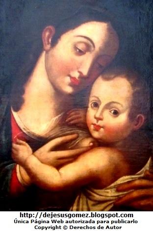 Retrato de la Virgen de la Leche del Museo de Arte de Lima. Foto de la Virgen de la Leche tomada por Jesus Gómez