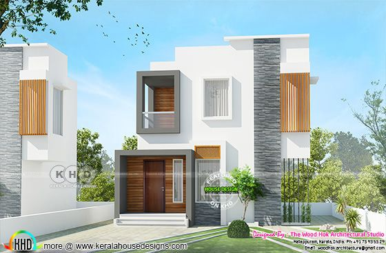 980 square feet 2 bedroom low cost double storied home