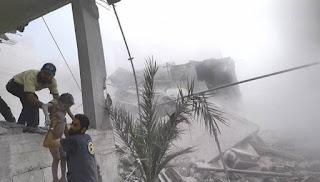 Serangan Rudal Rezim Syiah Asad Membunuh 7 Warga Sipil di Ghautah Timur
