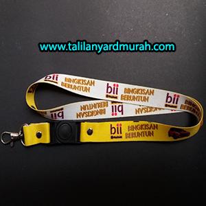 Produksi Pesanan Tali Lanyard Tali ID Card Bank BII