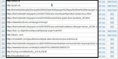 mencari dan memperbaiki broken link