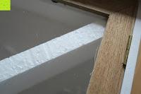 Verarbeitung: Küchenschrank Wandschrank Hängeschrank 4 Haken 4 Schubladen 2 Glastüren Schrank