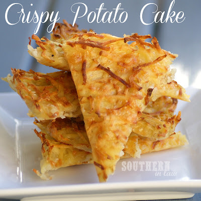 Healthy Baked Crispy Potato Pancake - Low Fat
