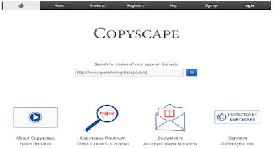 cara mengecek keaslian artikel Anda dengan copyscape