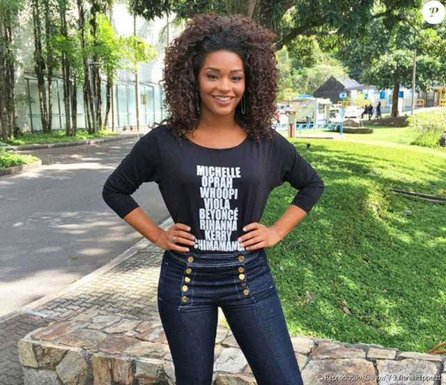 Juliana Alves denunciou em suas redes sociais uma ofensa racista que sofreu de um seguidor no Instagram