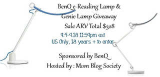 Enter the BenQ e-Reading Lamp and Genie Lamp Giveaway. Ends 9/18