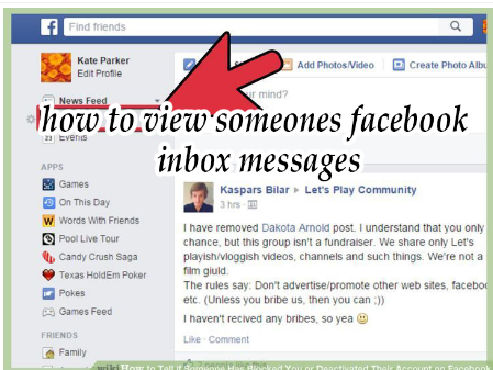 How to View Someones Facebook Messages