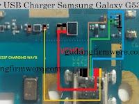 Jalur USB Charger Samsung Galaxy G532F ( Trick Jumper )
