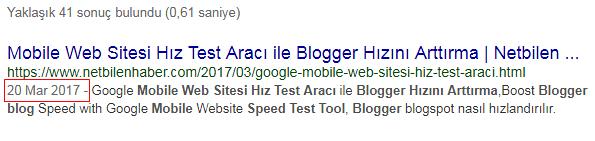 blogger tarih gizleme