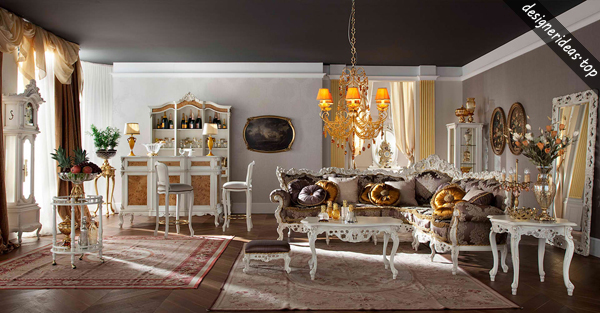 4 Design Ideas about Italian Living Room Luxury and Classic