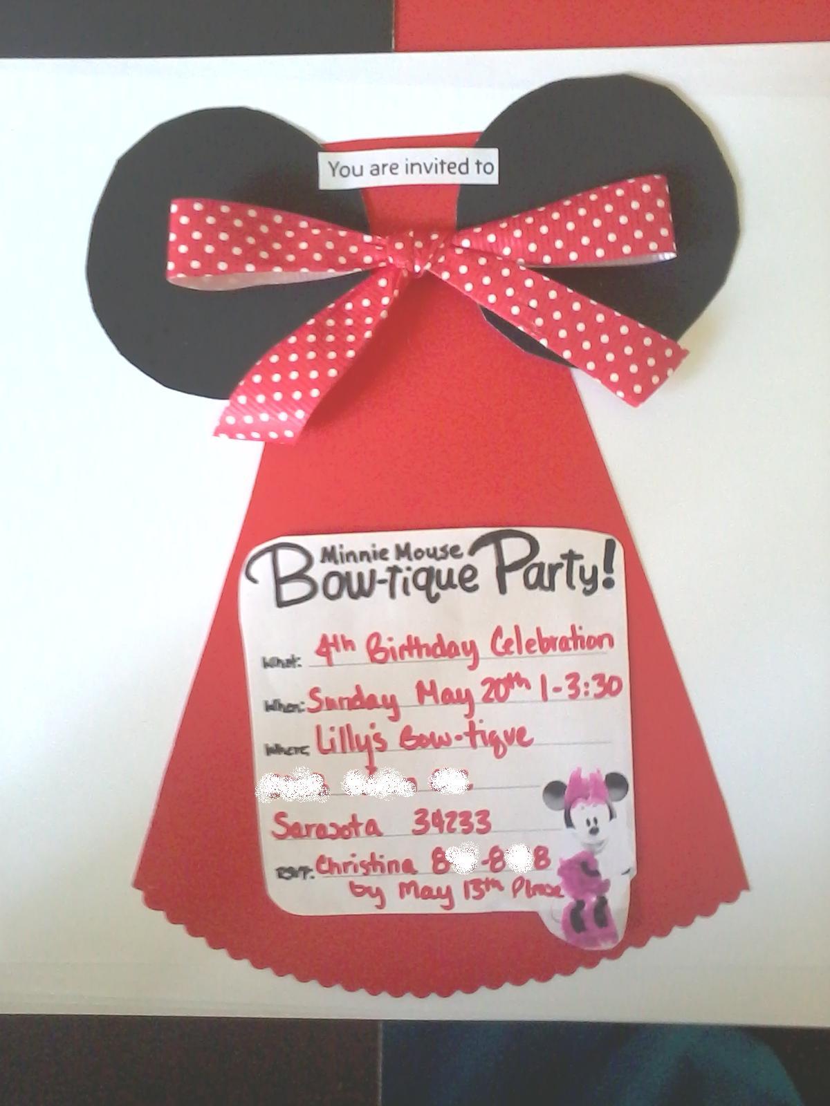 "crafttini diy make ""minnie eared dress"" birthday party"