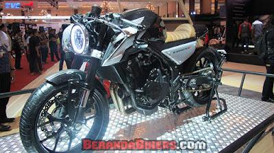 IMOS 2016: Modifikasi Honda CB500F Cafe Racer, gahar brads!