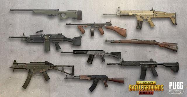 senjata terbaik, pubg mobile, pubg, assault rifles,