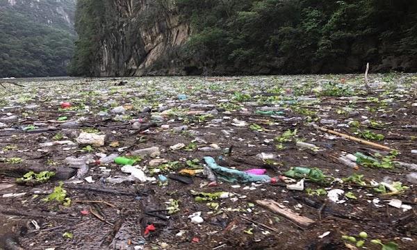 El Cañón del Sumidero se inunda de basura (VIDEO)
