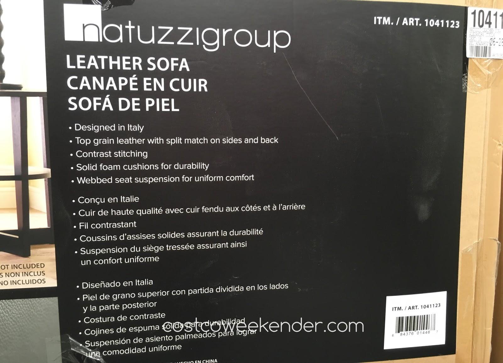 Natuzzi Group Leather Sofa Costco White Sleeper Full Weekender
