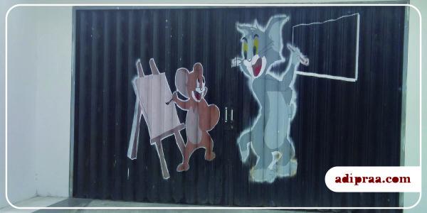 Mural Karakter Animasi Kartun Tom & Jerry | adipraa.com