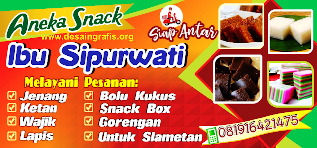 Desain Banner Toko Aneka Snack Makanan Ringan cdr ...